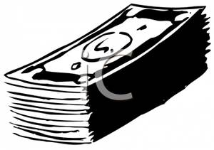 Stack Of Money Clipart Black And White.