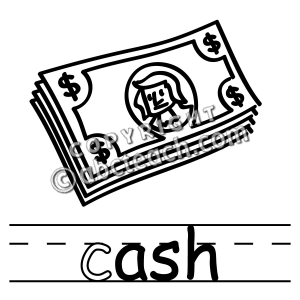 Money Clipart Black And White.