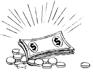 Black And White Money Clip Art, Money Black And White Free Clipart.