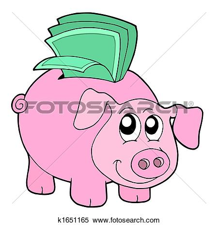 Stock Illustration of Pig money box k1651165.