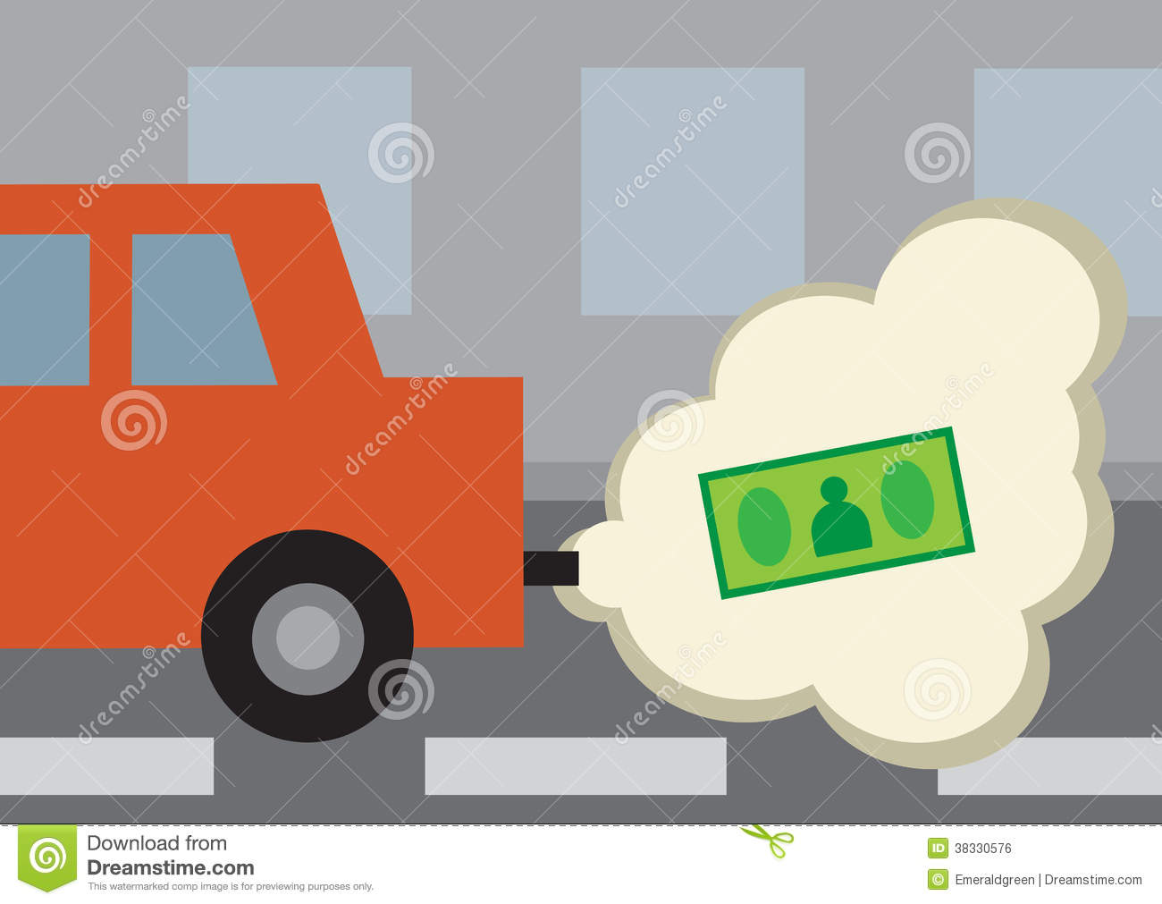 Car With Money Gas Clipart.