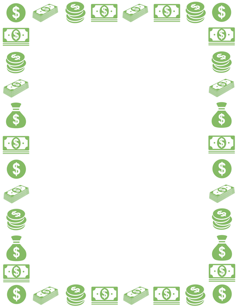 A money page border. Free downloads at pageborders.org.