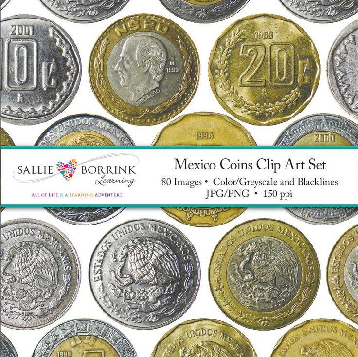 Mexico Coins Clip Art.