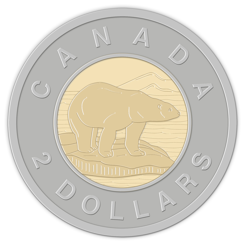 Clip Art: Canadian Money: Dollar Color.