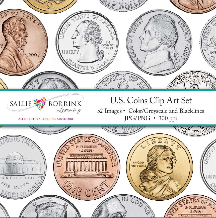 U.S. Coins Clip Art.