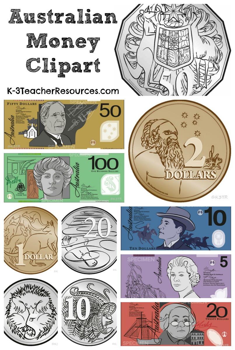 Australian Money Clipart Images.