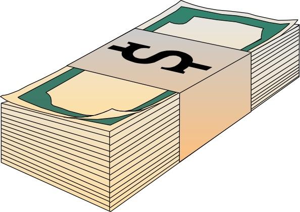 Stack Of Bills Money clip art Free vector in Open office.