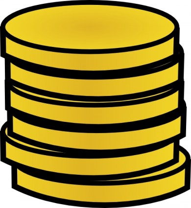 Money Stack Of Coins clip art.