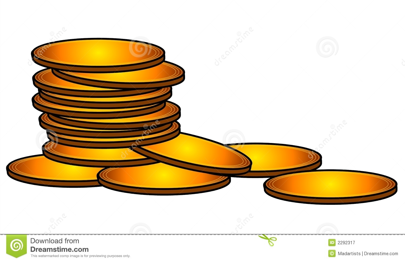 Bag Of Money Coins Clip Art Royalty Free Stock Image.