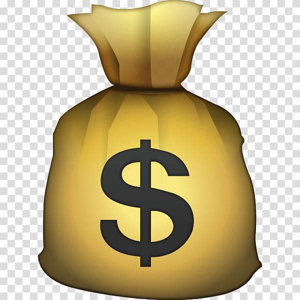 Yellow money bag , Emoji Money bag Credit card United States.