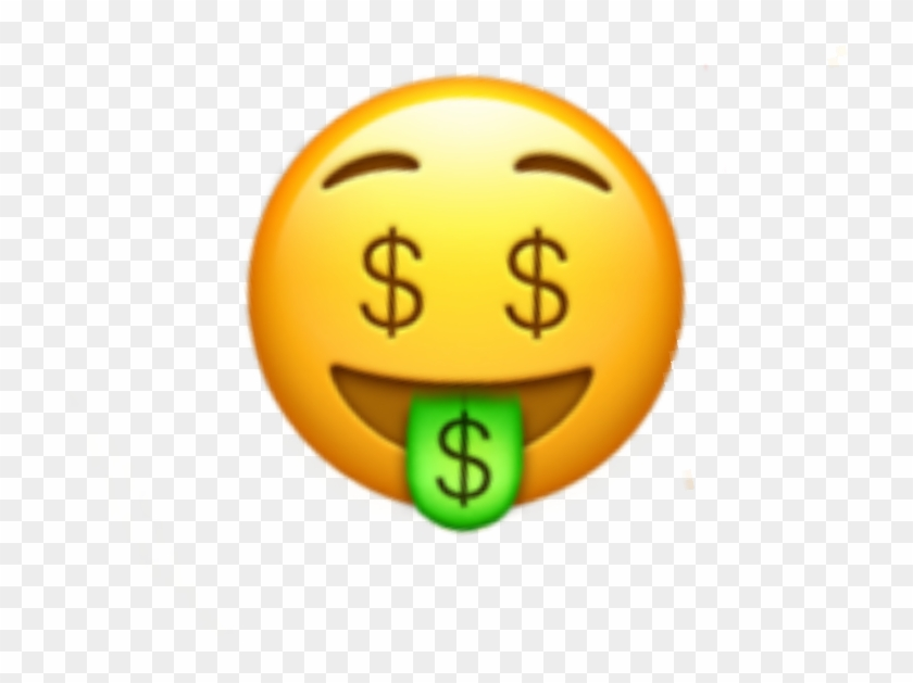 Money Face Emoji Moneyeyes Eyes Iphone Sticker Random.