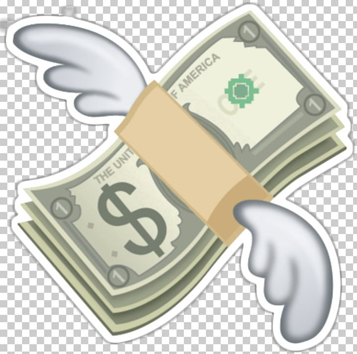 Emoji Flying Cash Money Bag Sticker PNG, Clipart, Bank.