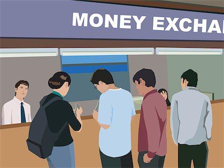 Money exchange clipart Stock Photos.