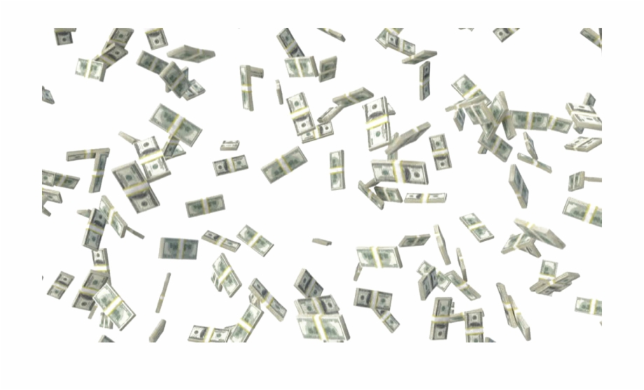 Falling Money Transparent Image.