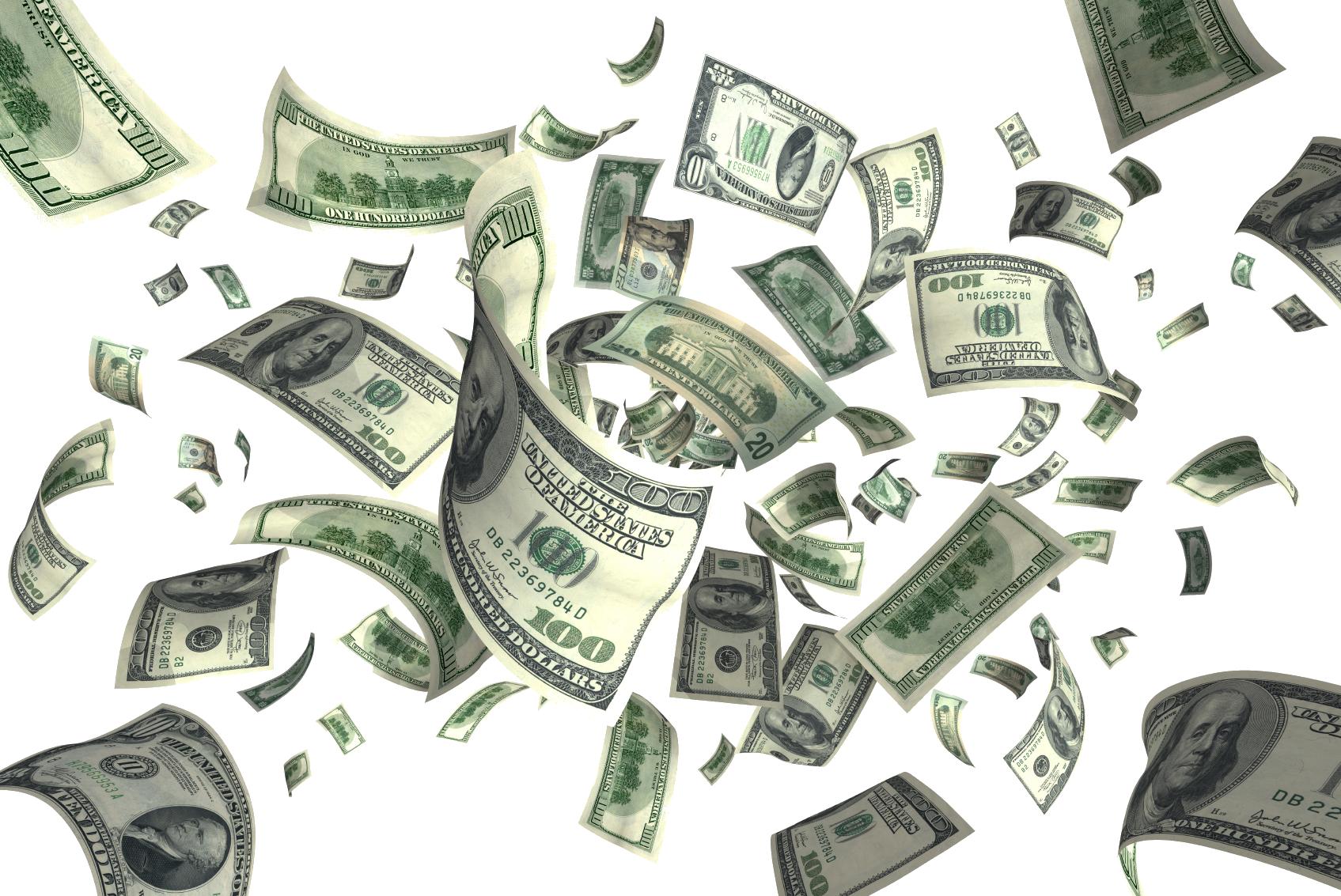 Money Flying cash Clip art.