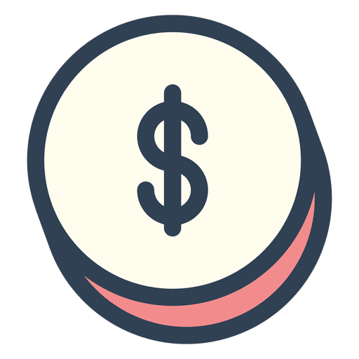 Dollar money stroke icon.