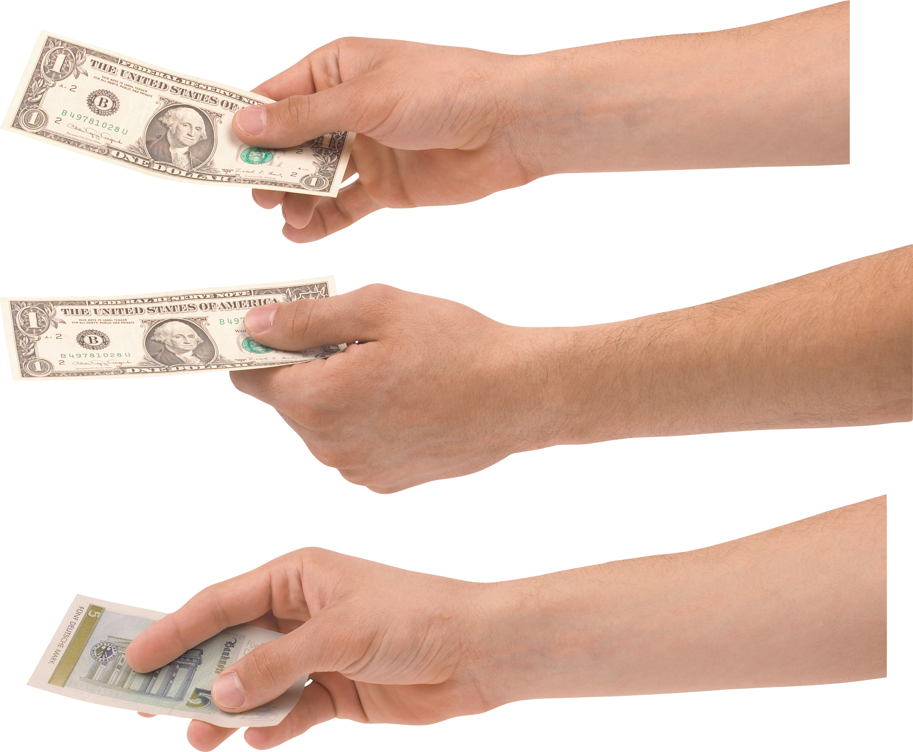 Money's On Hand PNG Image.
