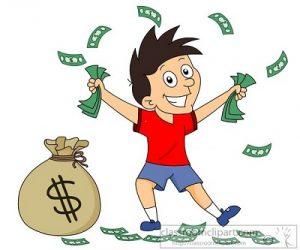 Pocket Money Clipart.