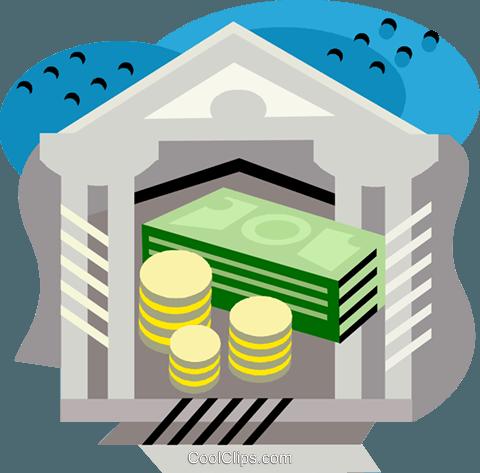 Money/bank Royalty Free Vector Clip Art illustration.