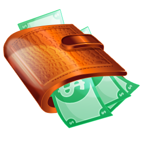 Money In Wallet Clipart.