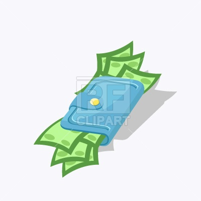 Wallet with money Vector Image #151.