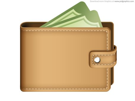 Money in wallet icon (PSD), Vector Files.