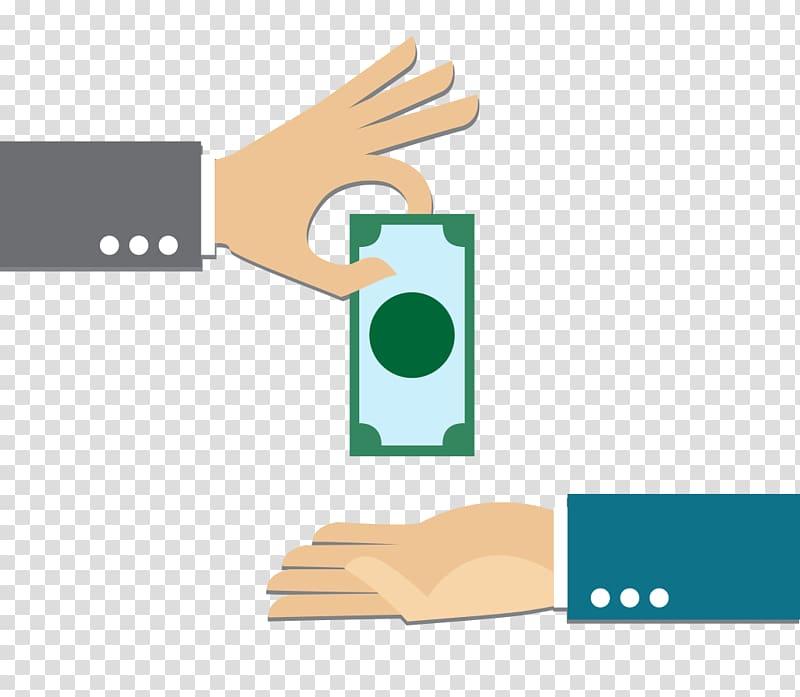 Business Money Loan Bank Service, Holding dollar transparent.