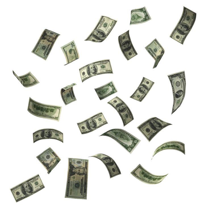 Falling Money Live Clipart.