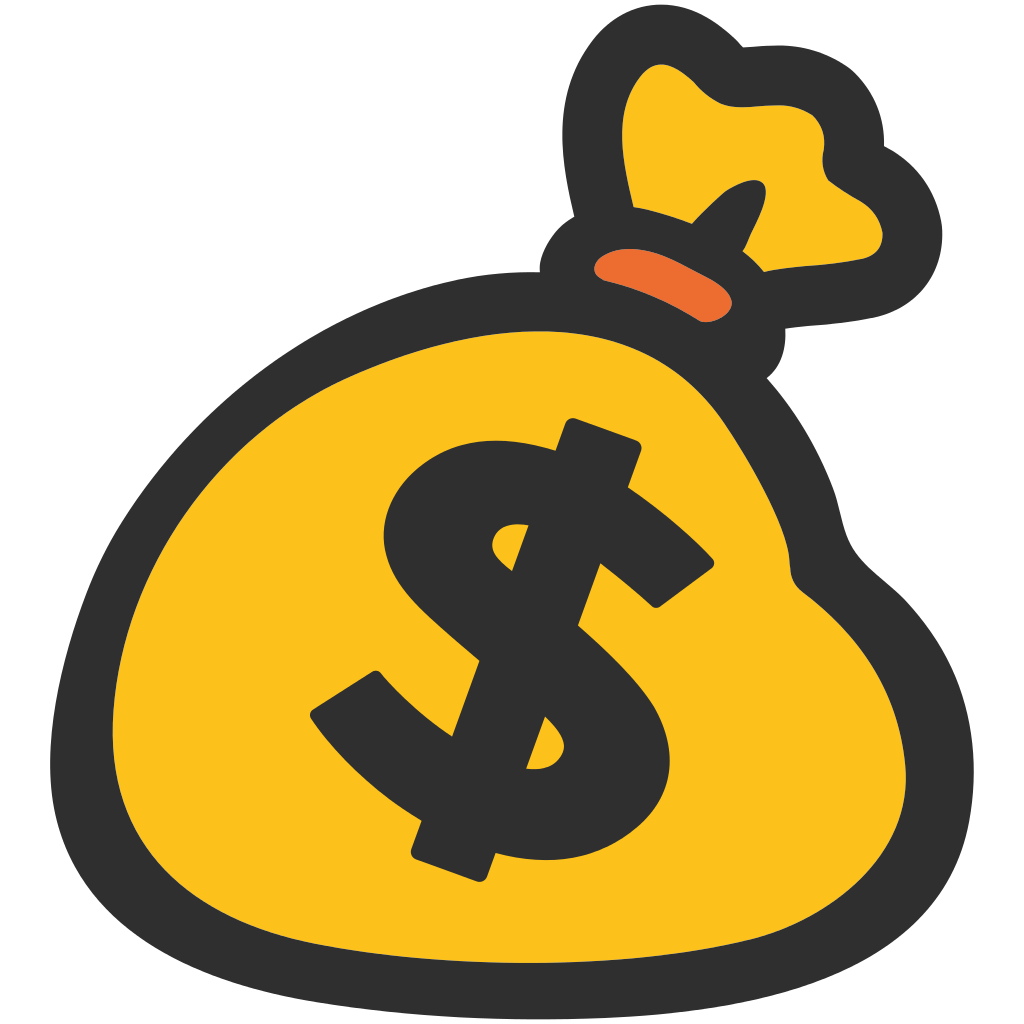 Money Bag Emoji transparent PNG.