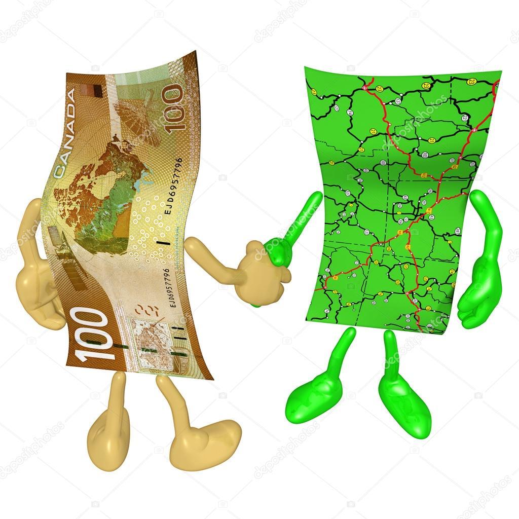 Money Map Handshake — Stock Photo © LuMaxArt #12349766.