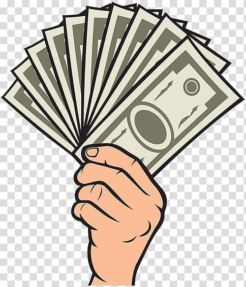 Money bag Drawing Hand , Money pool notes transparent.