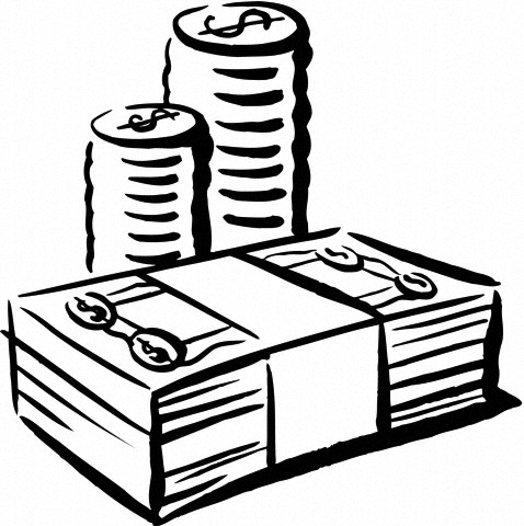 Clipart money outline, Clipart money outline Transparent.