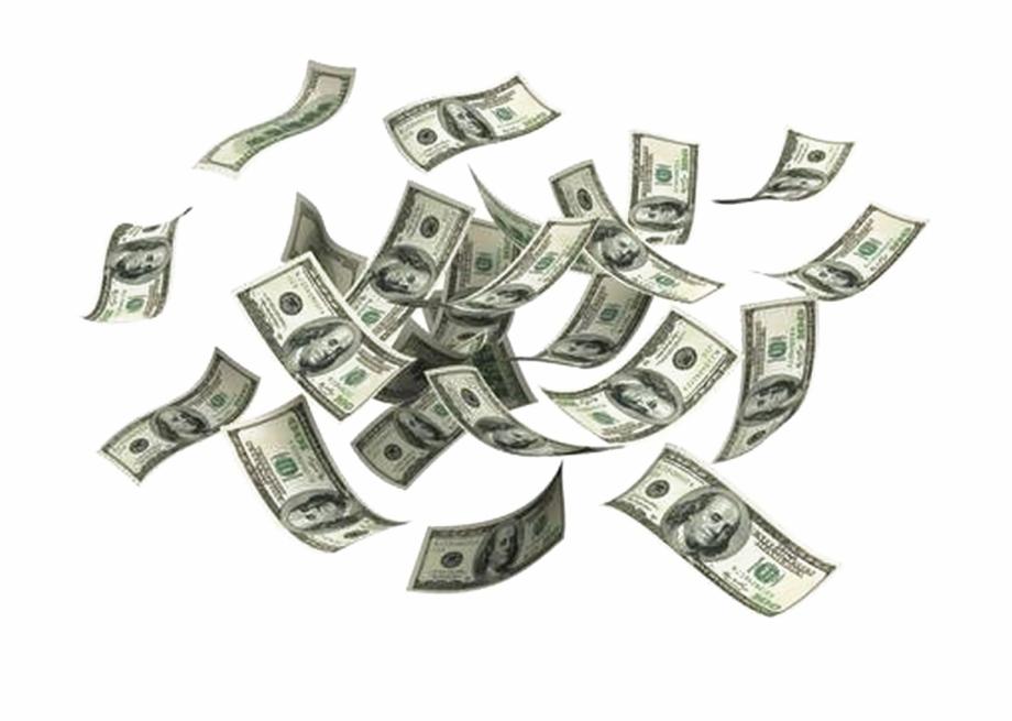 Falling Money Png Transparent Image.