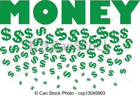 Raining money free clip art.