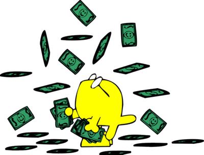 Clipart raining money.