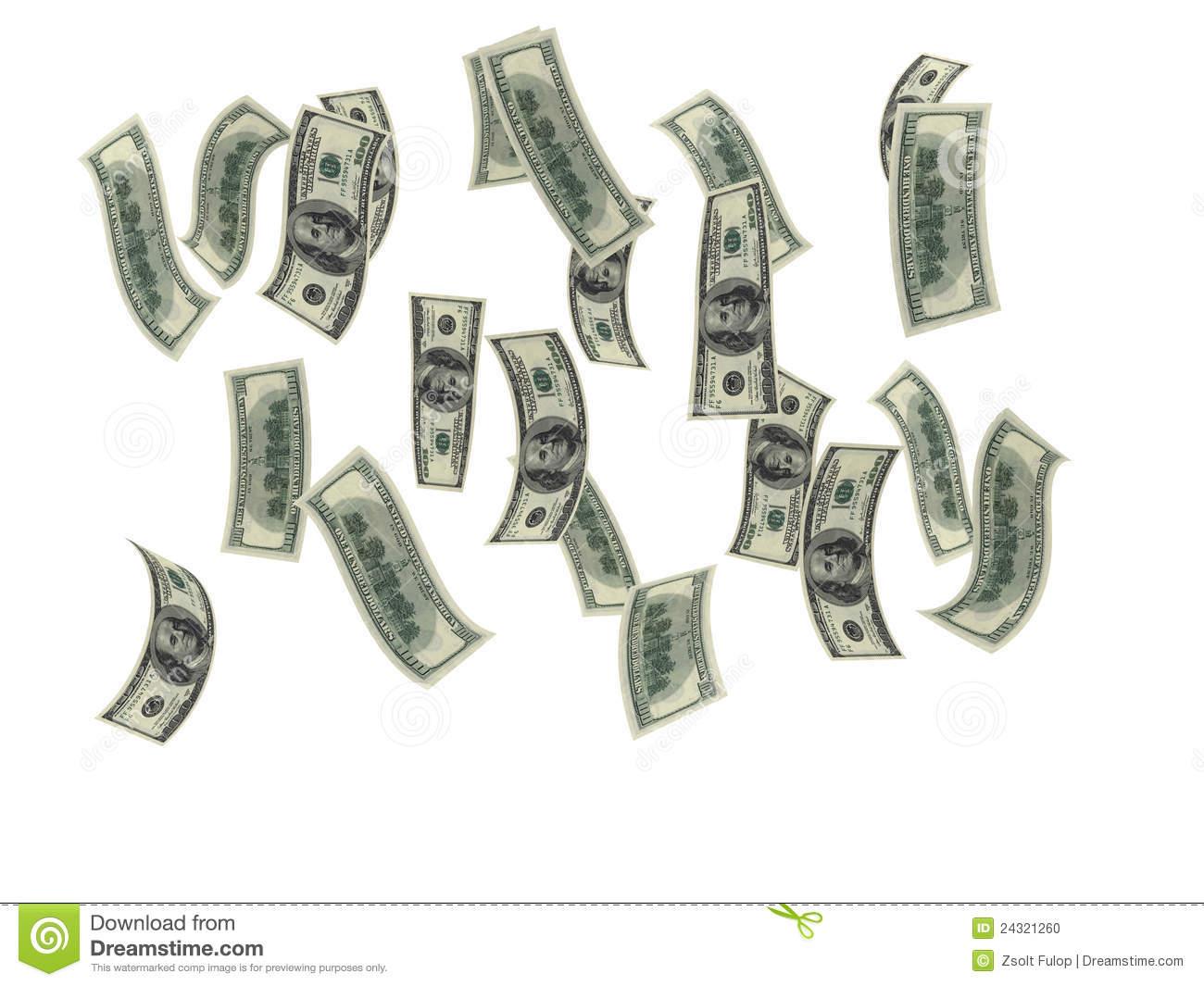 Money Rain Stock Photo.