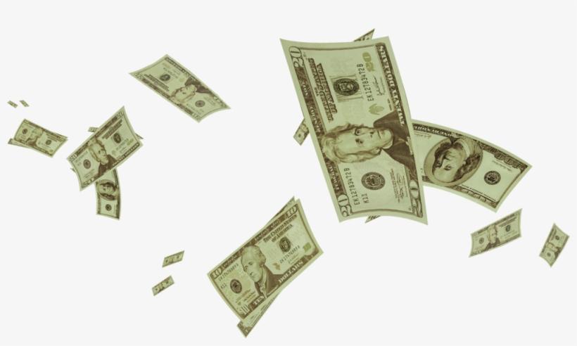 Money Rain Png Banner Free.