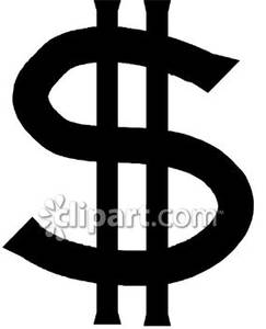 Money Sign Clip Art Black And White.