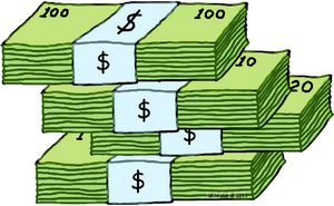 89+ Stack Of Money Clipart.