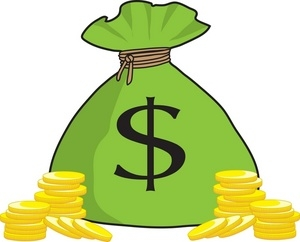 Money bag clipart transparent background.