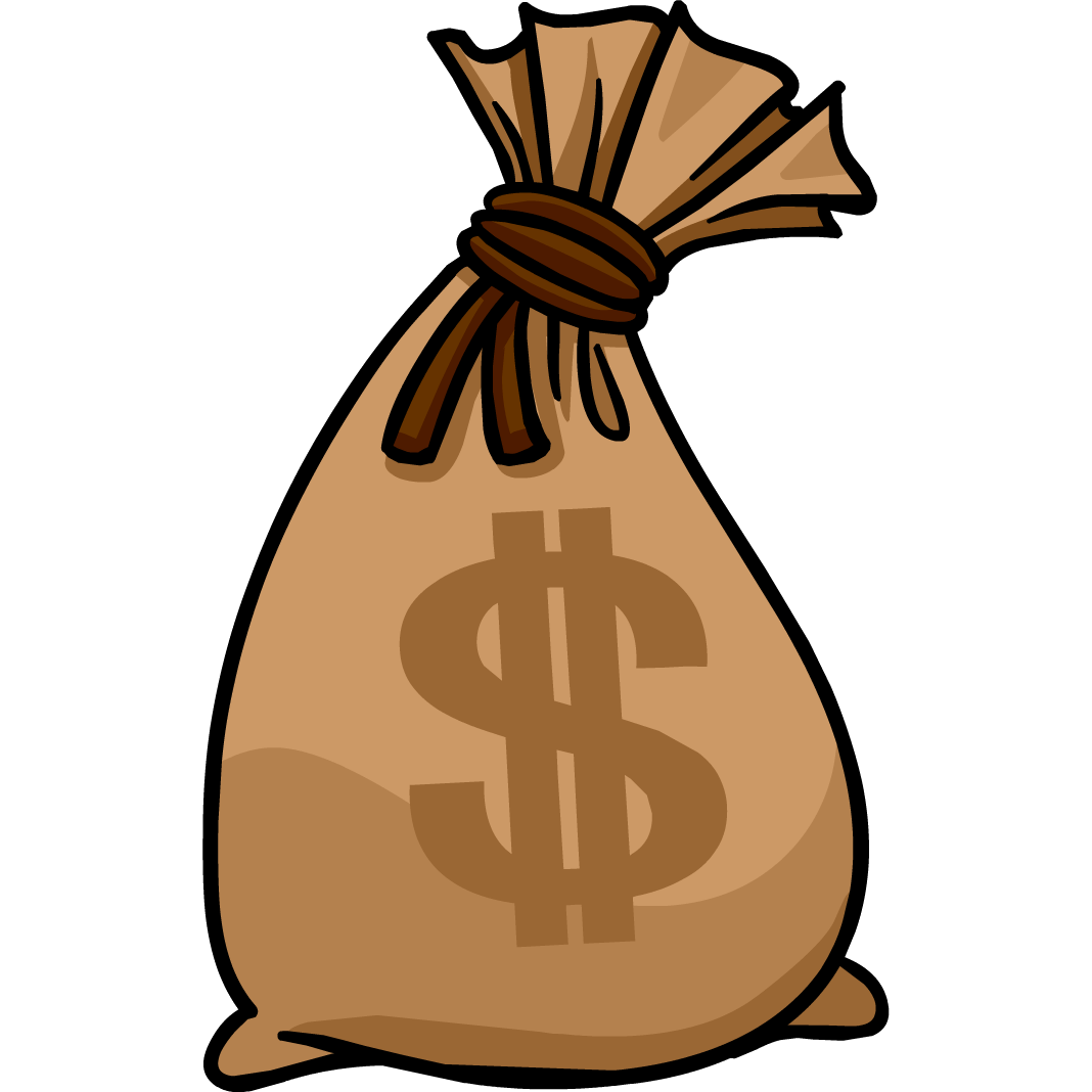 Money bags clipart.
