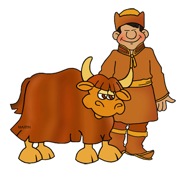Free Mongols Clip Art by Phillip Martin.