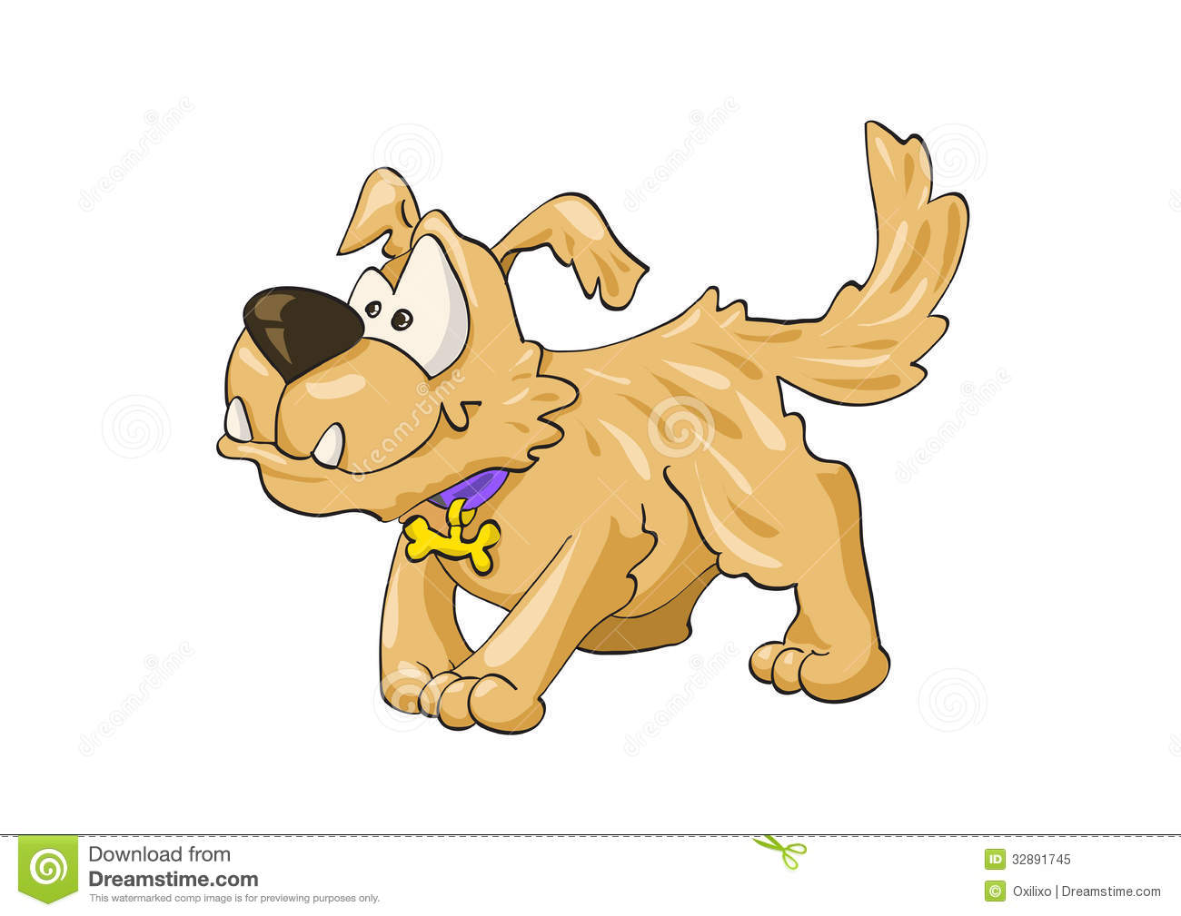 Mongrel dog clipart.
