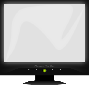Generic Monitor Clip Art at Clker.com.