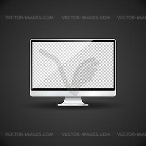 Blank monitor template mockup.