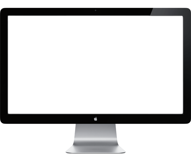 Monitor Apple transparent PNG.