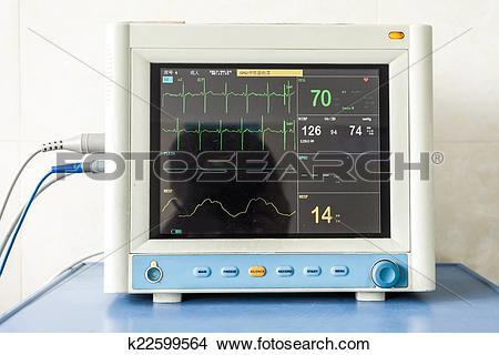 Stock Photo of Health care portable monitoring equipment k22599564.