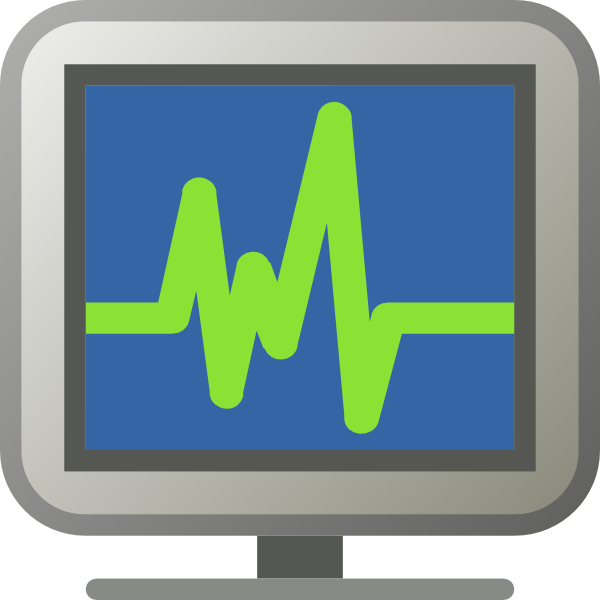 Icon Monitoring clip art Free Vector / 4Vector.