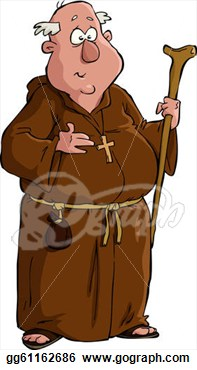 Fat Monk Clipart.