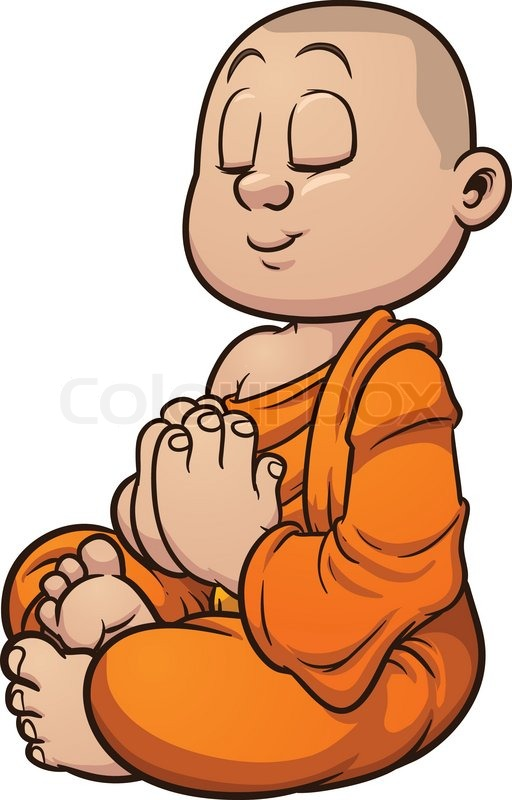 Medieval Monk Clipart.